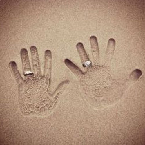 beach wedding cute photo idea for your thank you cards