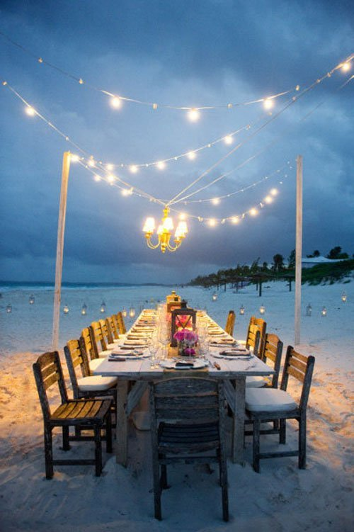 beach wedding decor & 21 Fun and Easy Beach Wedding Ideas