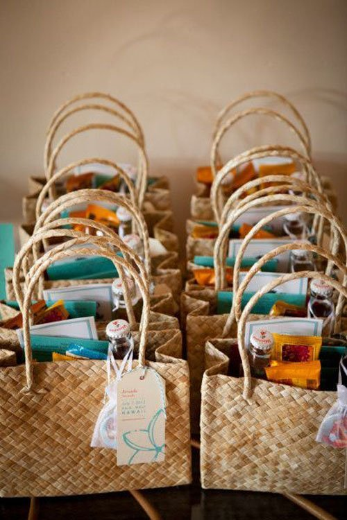 beach welcome bags