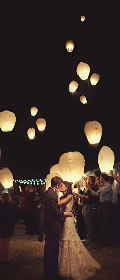 Sky lanterns for wedding