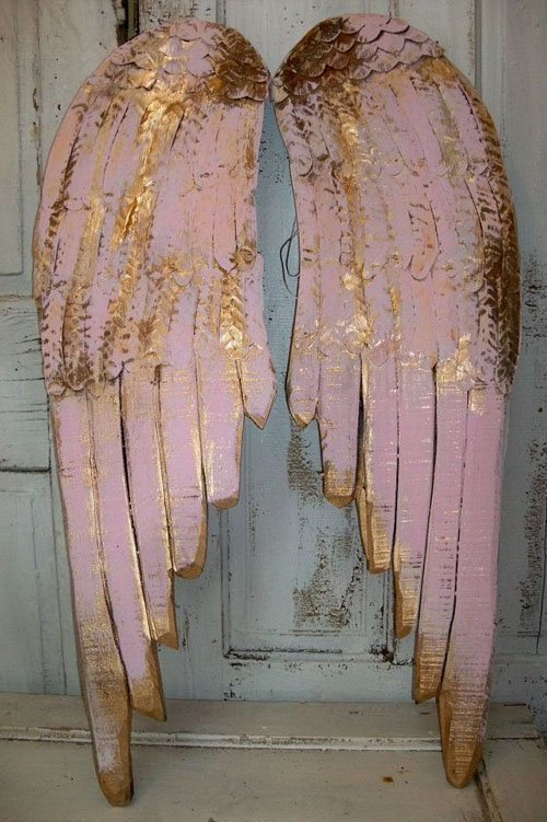 These rustic chic pink metallic angel wings would look amazing as a ceremony backdrop or as part of your reception decor. Bonus? You can hang them up in your house after the wedding! From Etsy seller Anita Spero.