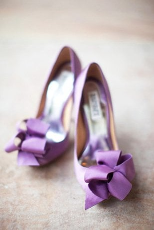Blue, schmue. Try wearing something purple instead (like these amazing Lanvin shoes).