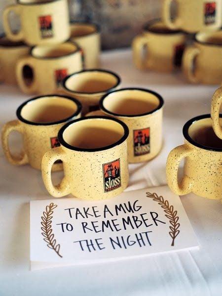 Personalized coffee mug wedding favor