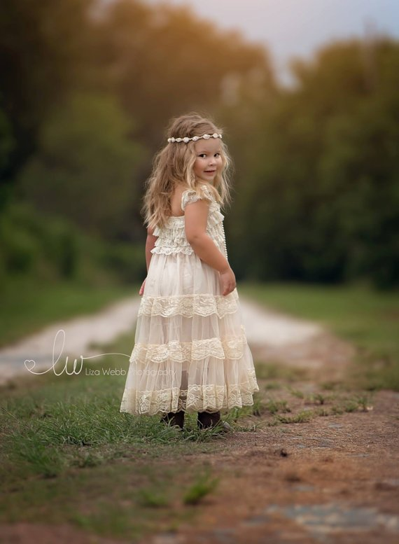 a1ed55086d0 Country flower girl dress by PoshPeanutKids