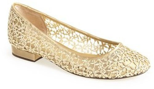 "a target=""_blank"" href=""http://www.shopstyle.com/action/loadRetailerProductPage?id=465863071&pid=uid9924-25648882-49"">Menbur 'Bimba' Crystal Embellished Floral Ballet Flat (Women) • $174.95"
