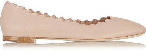 Chloé Lauren leather ballet flats • $475.00