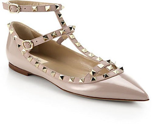 Valentino Rockstud Leather Cage Flats • $975.00
