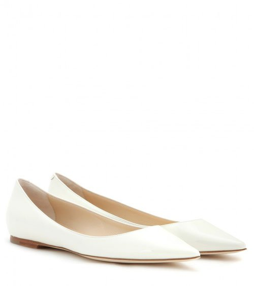 Jimmy Choo Alina patent leather ballerinas • $550.00