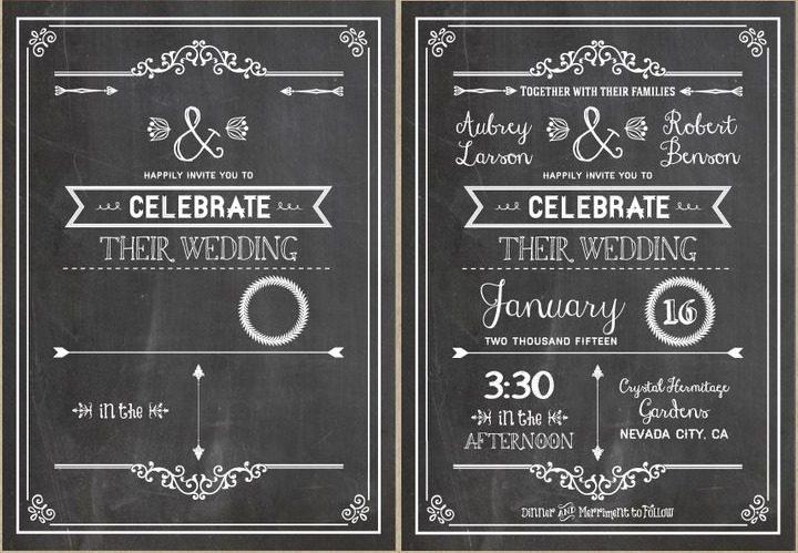 diy-wedding-invitation-chalkboard