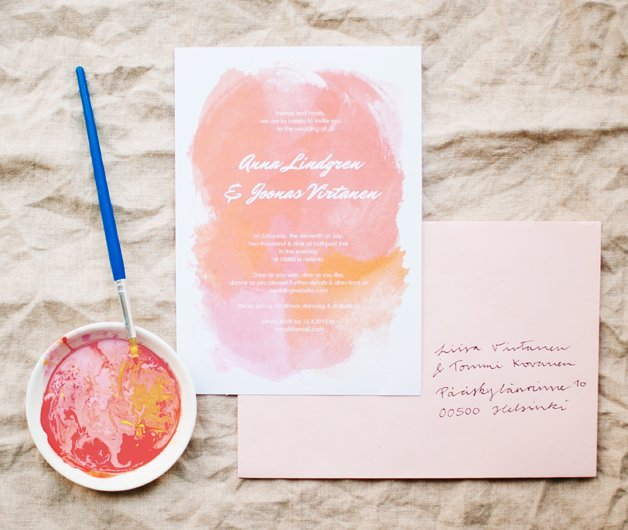 diy wedding invitations our favorite free templates How To Make Watercolor Wedding Invitations diy wedding invitations 3 how to make watercolor wedding invitations