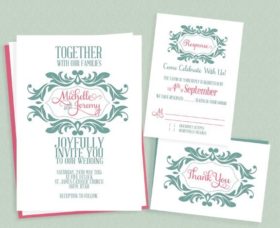 Diy wedding invitations our favorite free templates diy wedding invitations 4 stopboris Image collections