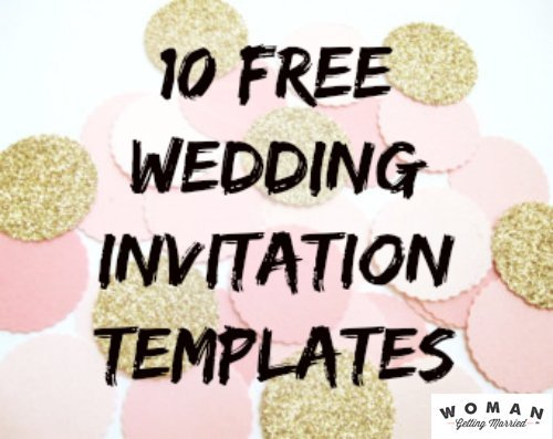 DIY Wedding Invitations Our Favorite Free Templates - Wedding invitation templates: free templates for wedding invitations