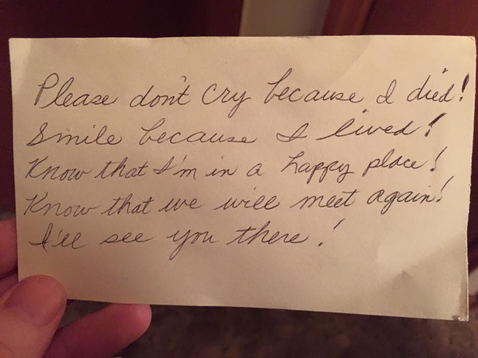 Husband Finds Touching Love Note from Late Wife | Woman Getting ...