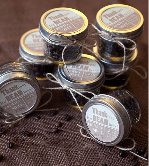 Coffee bean wedding favor via Something Turquoise