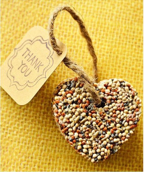 DIY birdseed wedding favors, via Intimate Weddings.