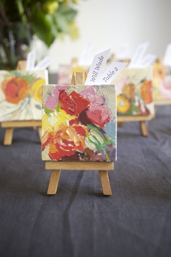Mini canvas and easel set via Project Wedding
