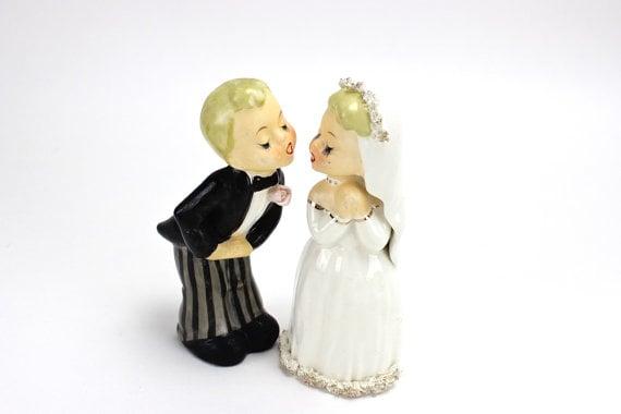 11 vintage wedding cake toppers woman getting married. Black Bedroom Furniture Sets. Home Design Ideas