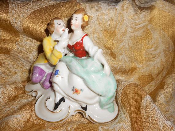 German Erphila Bavarian Porcelain wedding cake topper by myclosetshelf, $145