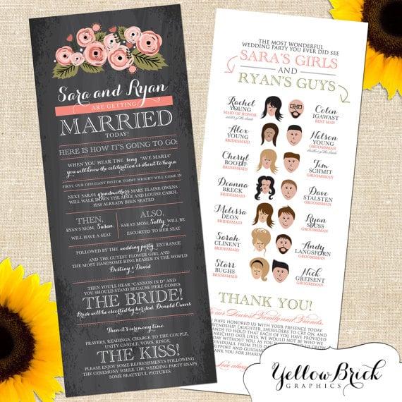Fun And Creative Wedding Programs