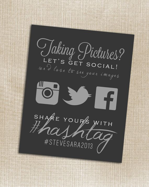 Put your social media info on your wedding program and get guests to start clicking!