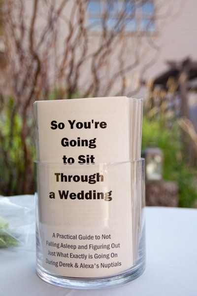 Fun And Creative Wedding Programs