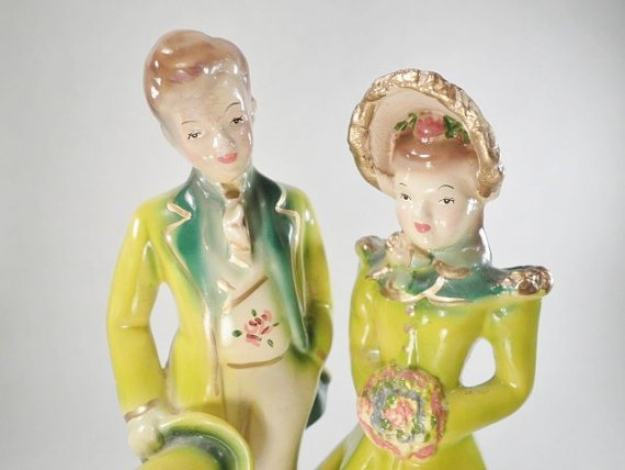 Vintage ChalkWare Wedding Cake Topper by hopsack, $16