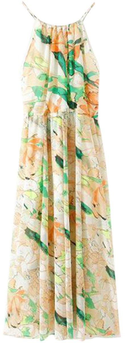 Flower Print Long Chiffon Cami Dress • ChicNova • $36.26