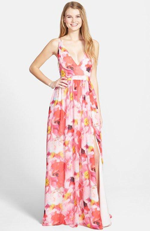 Aidan by Aidan Mattox Flower Print Chiffon Gown • Aidan Mattox • $295