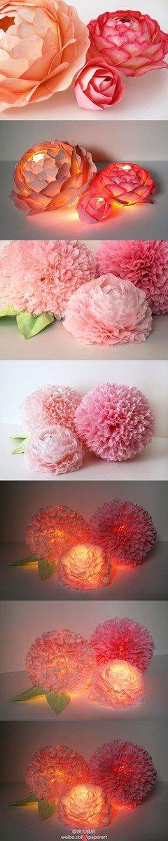 Paper flower DIY via Paper Blog