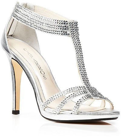 Silver Wedding Shoes You Can Actually Wear Again | Woman Getting ...