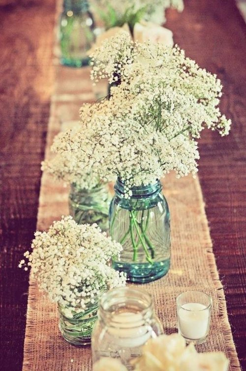 29 breathtaking spring wedding ideas woman getting married babys breath is an inexpensive flower that is perfect for a rustic spring wedding centerpiece mightylinksfo