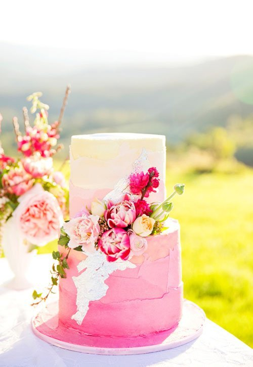 Spring Flower Wedding Cakes