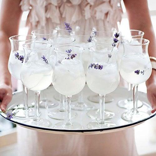 Lavender lemonade from Karen Mordechai's Sunday Suppers via One Kings Lane