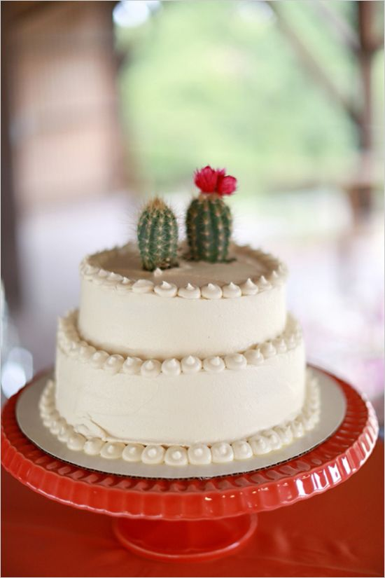 cactus wedding cake topper