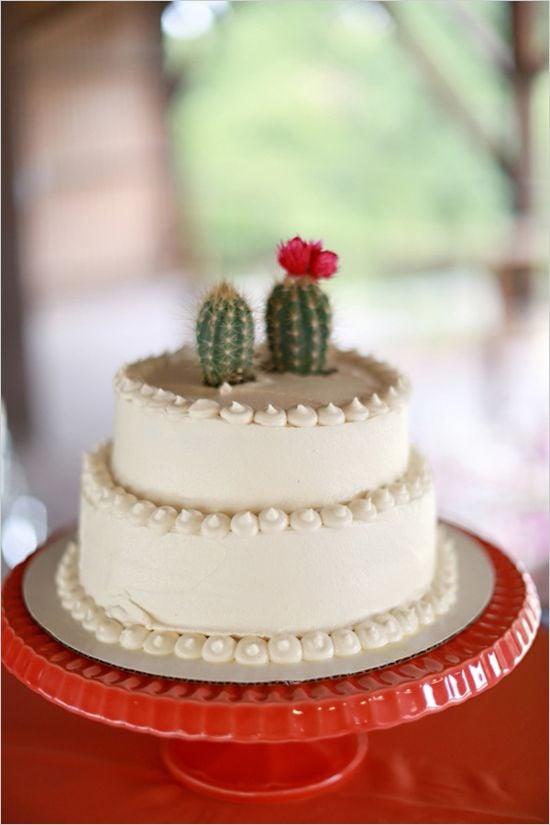 Cactus Wedding Cake Topper