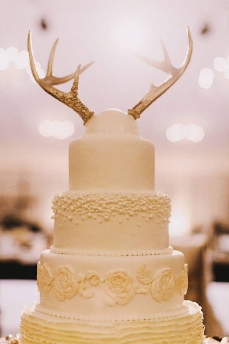 wedding cake topper antlers