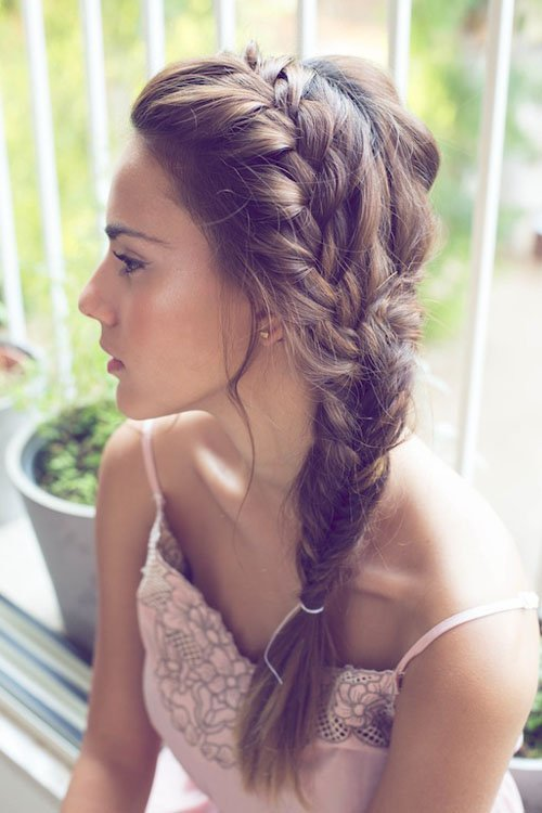 I Think This Boho Braided Wedding Hairstyle Is Perfect For An Outdoor Ceremony And Reception