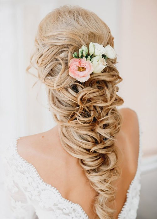 Remarkable 10 Gorgeous Wedding Hairstyles For Long Hair Woman Getting Married Short Hairstyles For Black Women Fulllsitofus