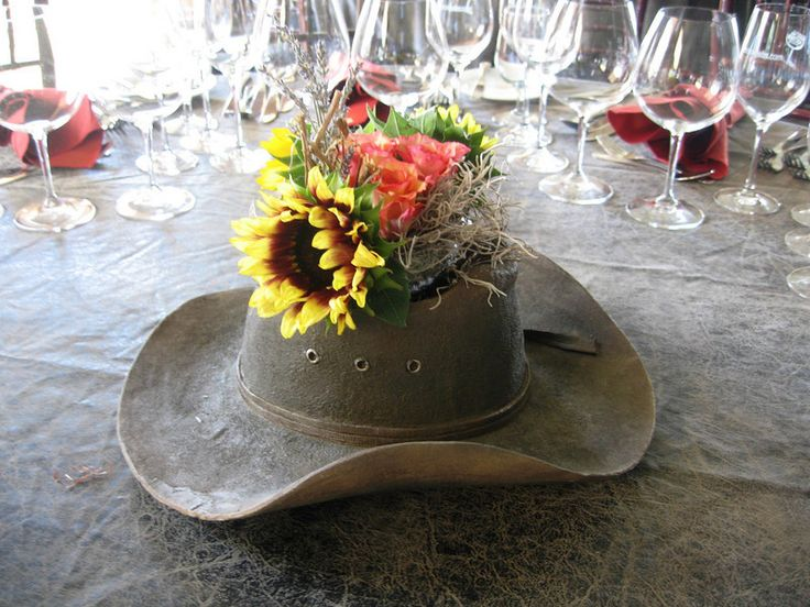 cowboy-hat-vase-flowers-country