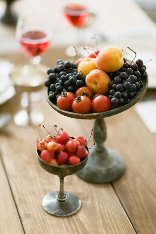 Fruit centerpieces for every season woman getting married