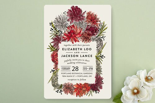 15 Minted Wedding Invitations We Love Woman Getting Married