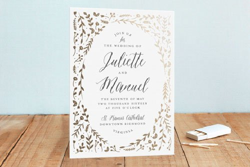 15 minted wedding invitations we love | woman getting married,