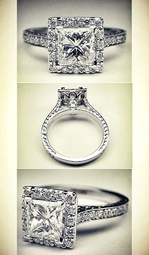 Your Guide To Princess Cut Engagement Rings