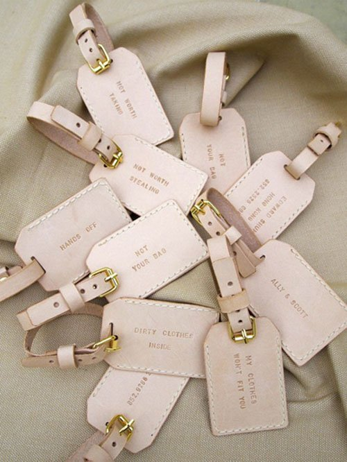 30 unique wedding favors guests will actually appreciate luggage tags junglespirit Gallery