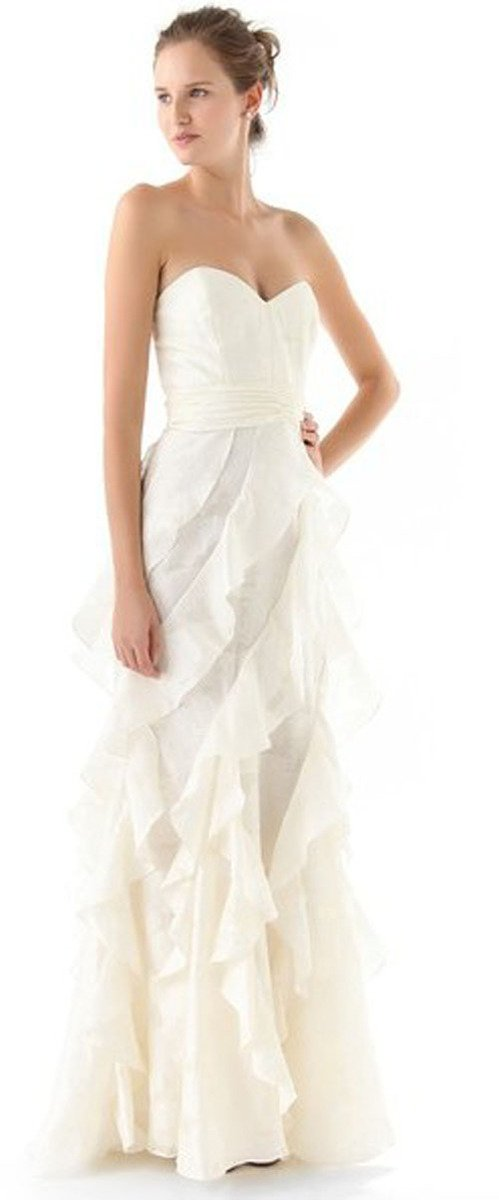 Badgley Mischka Collection Strapless Gown with Ruffle • Badgley Mischka • $895