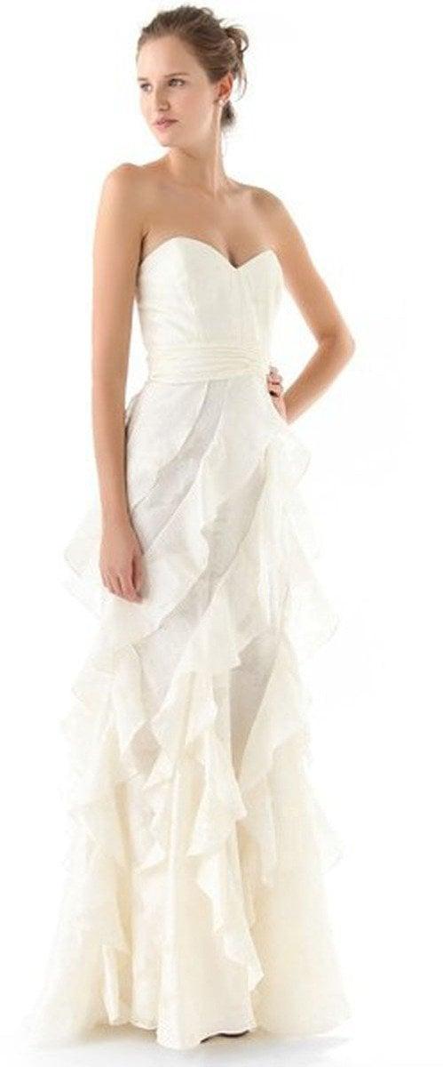 Badgley Mischka Collection Strapless Gown with Ruffle • Badgley Mischka • $895