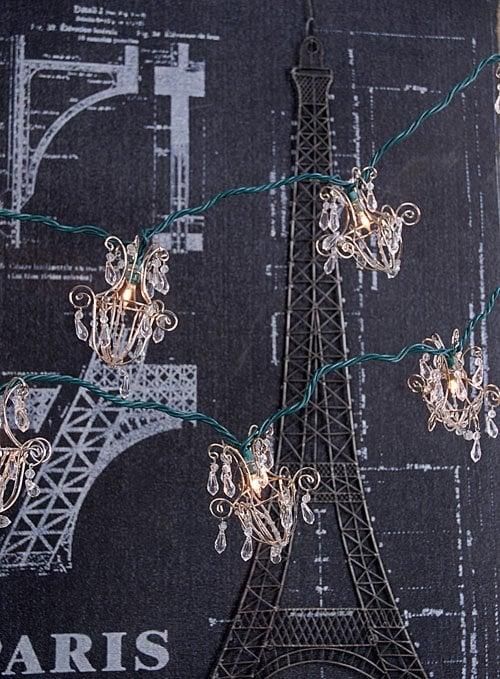 "Mini Chandelier String Lights, $24.99 (length: 5' 4"")"