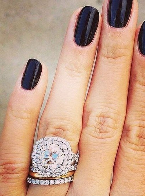 19 gorgeous stacked wedding rings. Black Bedroom Furniture Sets. Home Design Ideas