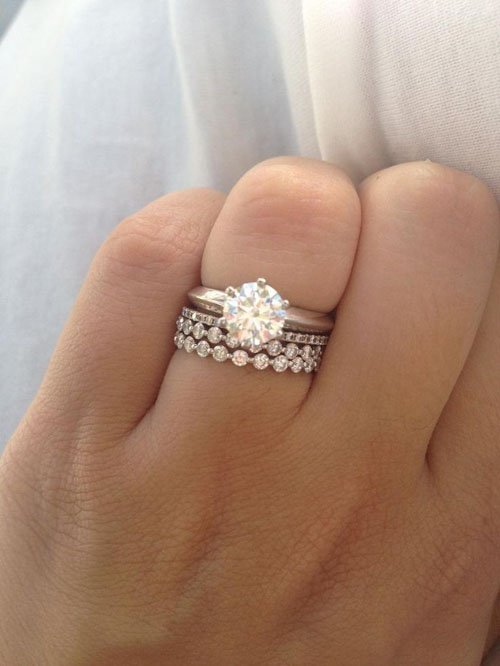 rings stacked wedding stack gorgeous