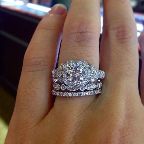 gabriel co vintage style engagement ring - Vintage Style Wedding Rings